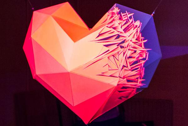 Heart – Videomapping sculpture